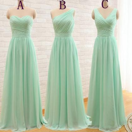 Mint green bridesmaid dresses,sweet..