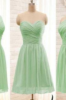 Mint green short bridesmaid dresses, prom dresses,2016 bridesmaid dresses,mint green prom dresses