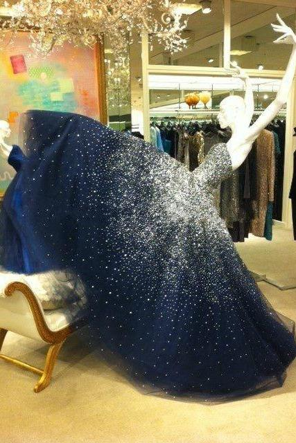 Prom dress,starry night prom dress,amazing prom dress,ball gown,woman dresses